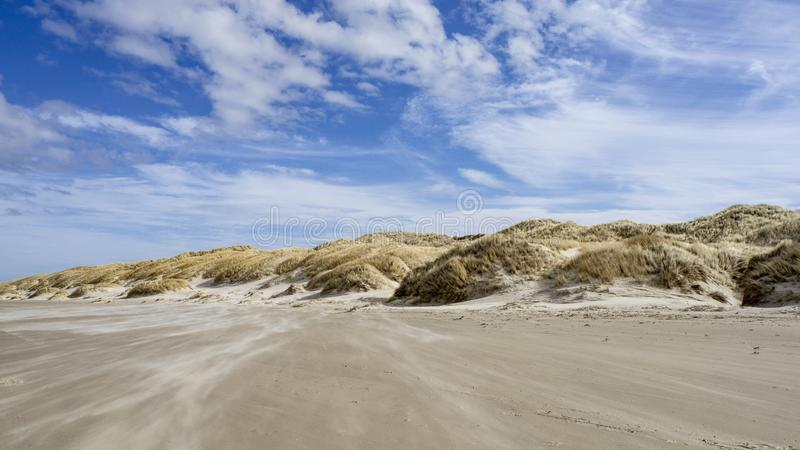 Danish Coast and Beach Line in Grønhoj, near Løkken, North Denmark. Danish Coast and Beach Line in Grønhoj, near Løkken in North Denmark stock photos