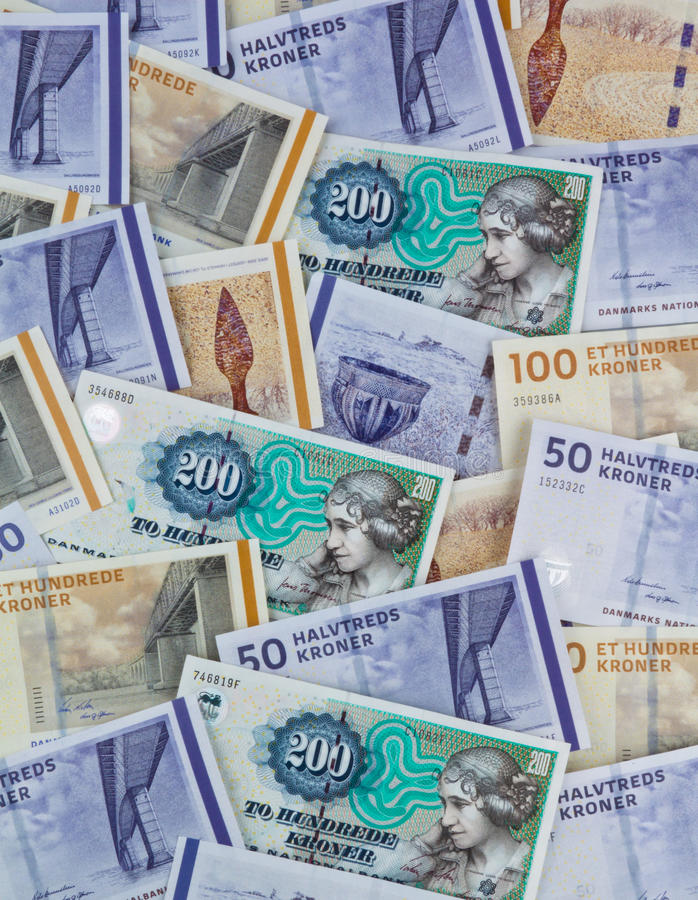 Danish crowns. Denmark Currency royalty free stock image