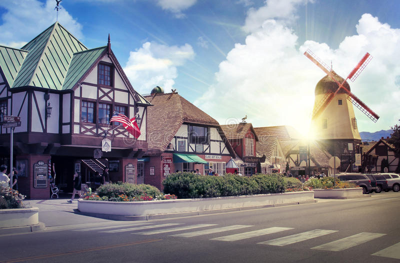 Danish European town of Solvang royalty free stock photography
