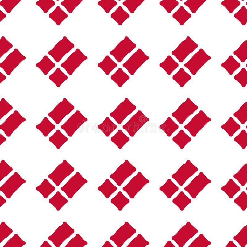 Danish flag seamless pattern stock photos