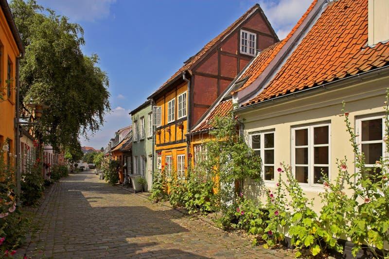 Danish houses stock photography