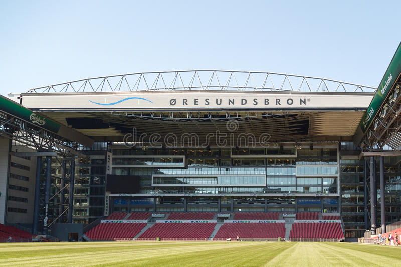Danish national soccer stadium Parken royalty free stock photography