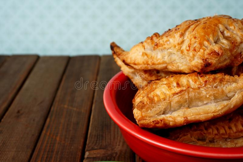 Danish pastries, apple pockets royalty free stock images