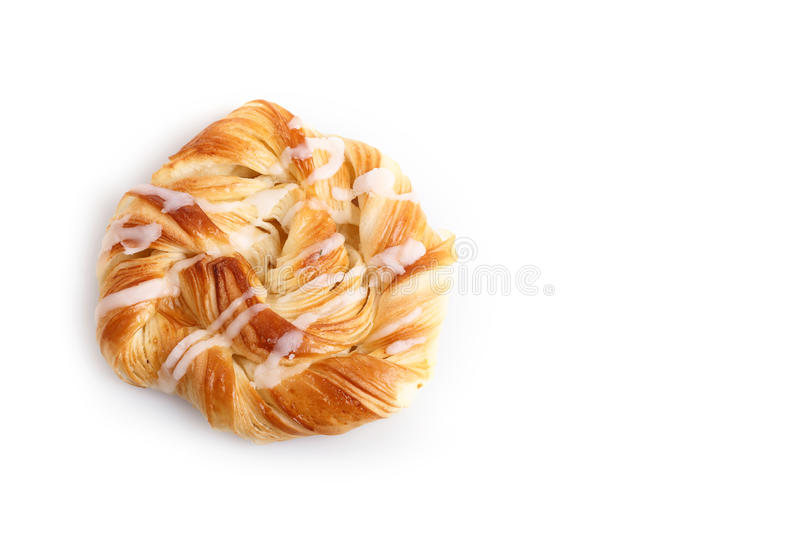 Danish pastries isolated on white background stock image