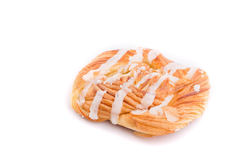 Danish pastries isolated on white background. Close up Danish pastries isolated on white background stock photography