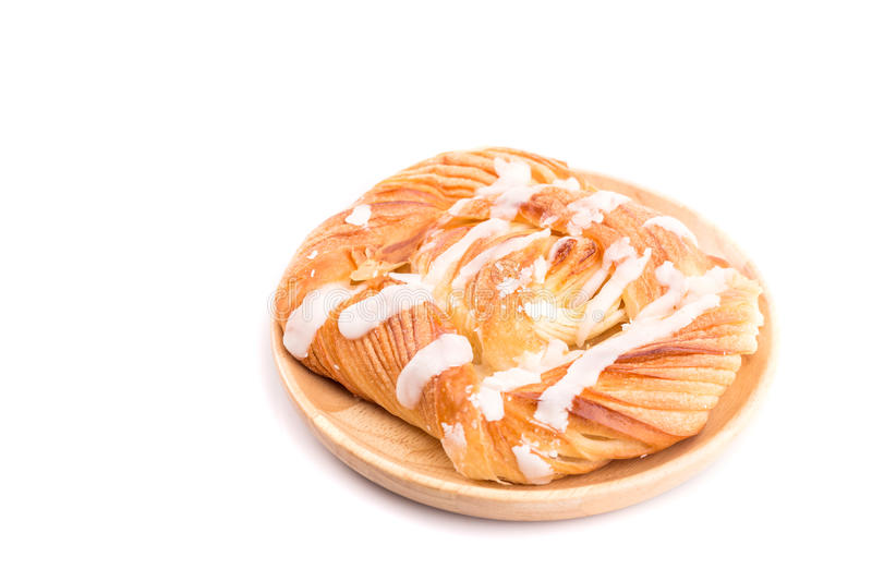 Danish pastries isolated on white background stock photo
