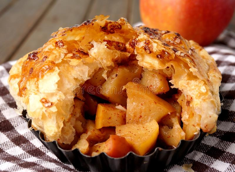 Danish pastry. Apple pie. Danish pastries. apple pie. Mile high. Macro stock images