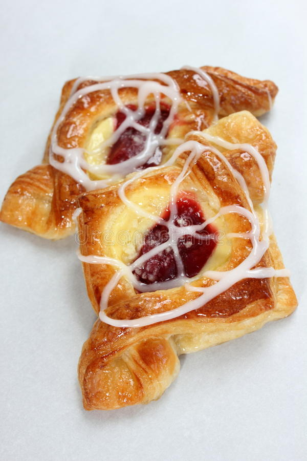 Danish pastry. Are made of flour, yeast, milk, eggs and butter stock photography