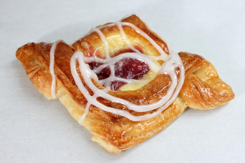 Danish pastry. Are made of flour, yeast, milk, eggs and butter royalty free stock image