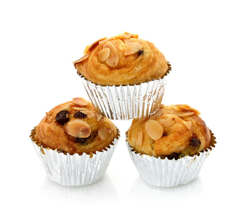 Danish pastry. On white background stock photography