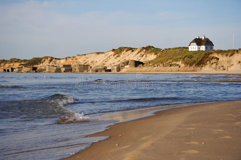 danish plażowy krajobraz zdjęcie royalty free