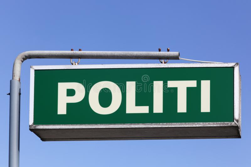 Danish police sign royalty free stock photo