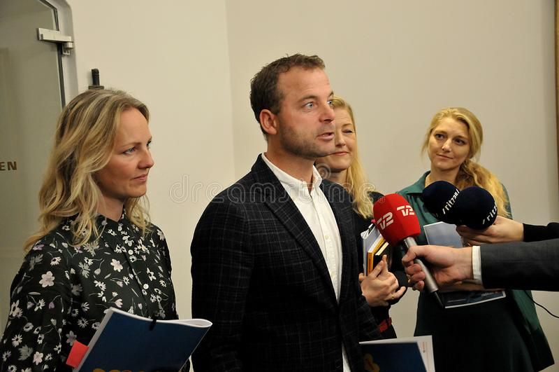 Danish Radikale ventre politics party spokeman and women stock photos
