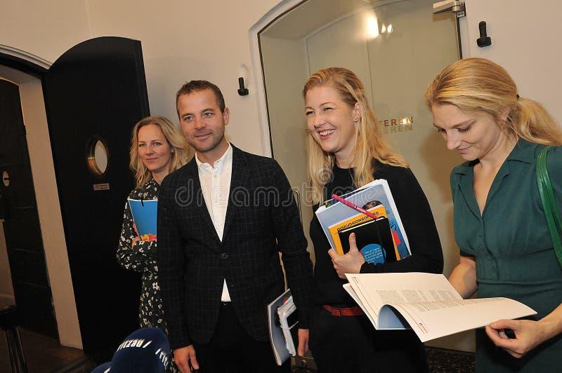 Danish Radikale ventre politics party spokeman and women royalty free stock photo