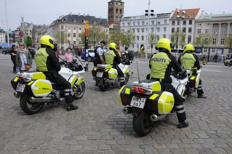 DANISH SECURITY POLICE ESCORTS PREISENT O LATVIA royalty free stock photography