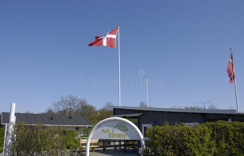 DANISH SUMMER HUTS stock images