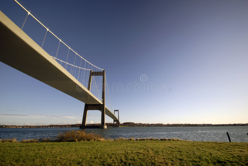Danish Suspension Bridge stock photo