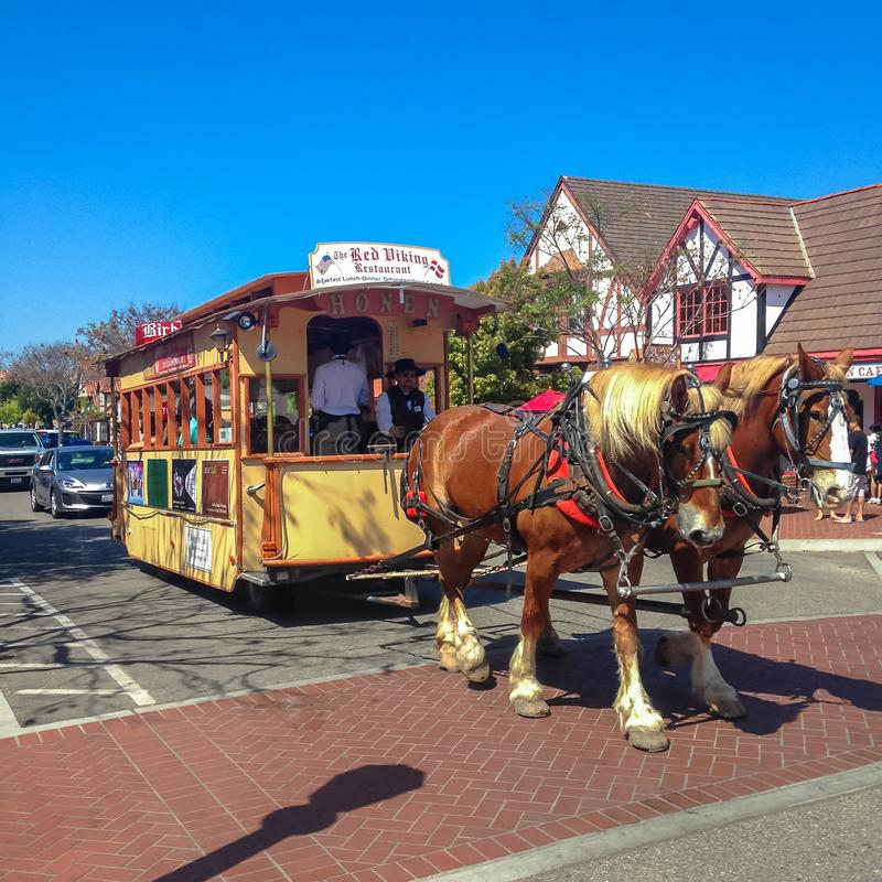 Danish town of Solvang in Santa Ynes, California. USA. Spring 2015 stock images
