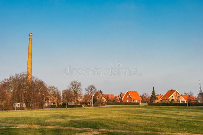 Danish town of Stege. On a vinter day stock images