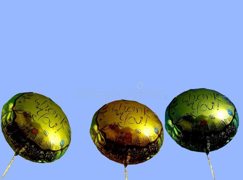 Dank u ballons stock fotografie