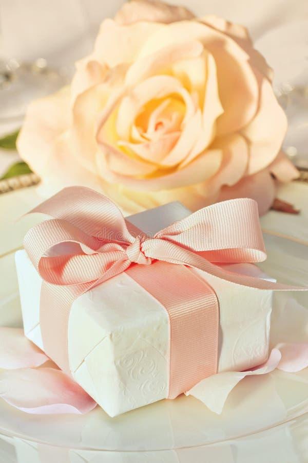 Dank u gift bij huwelijksontvangst