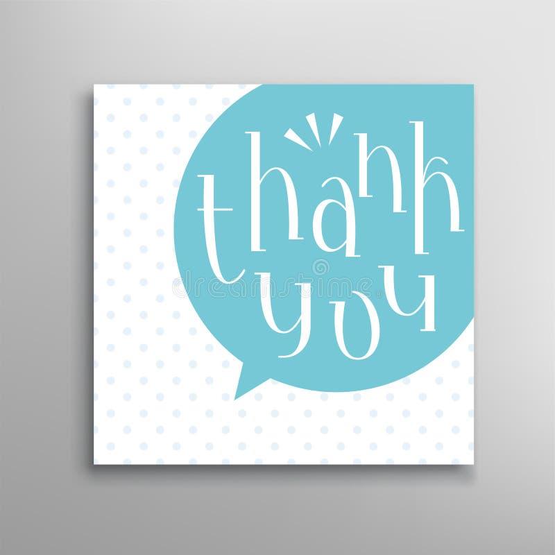 Dank u het met de hand geschreven vector van letters voorzien Tekstillustratie vector illustratie
