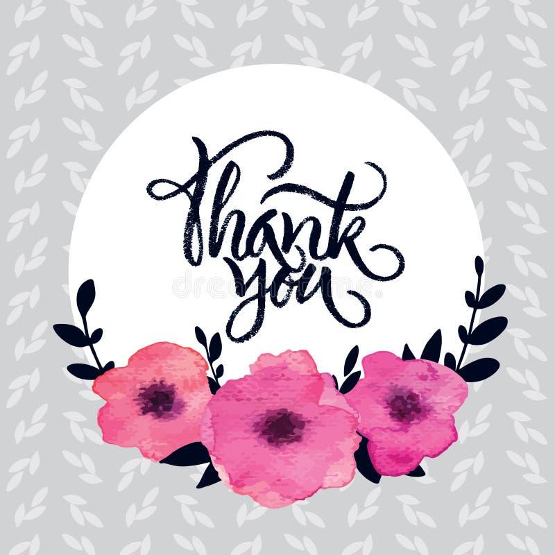 'Dank u' kaarden royalty-vrije illustratie