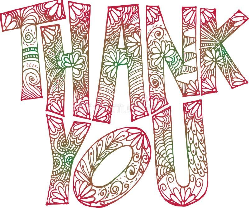 Dank u krabbel kunst-roodachtige groen stock foto's