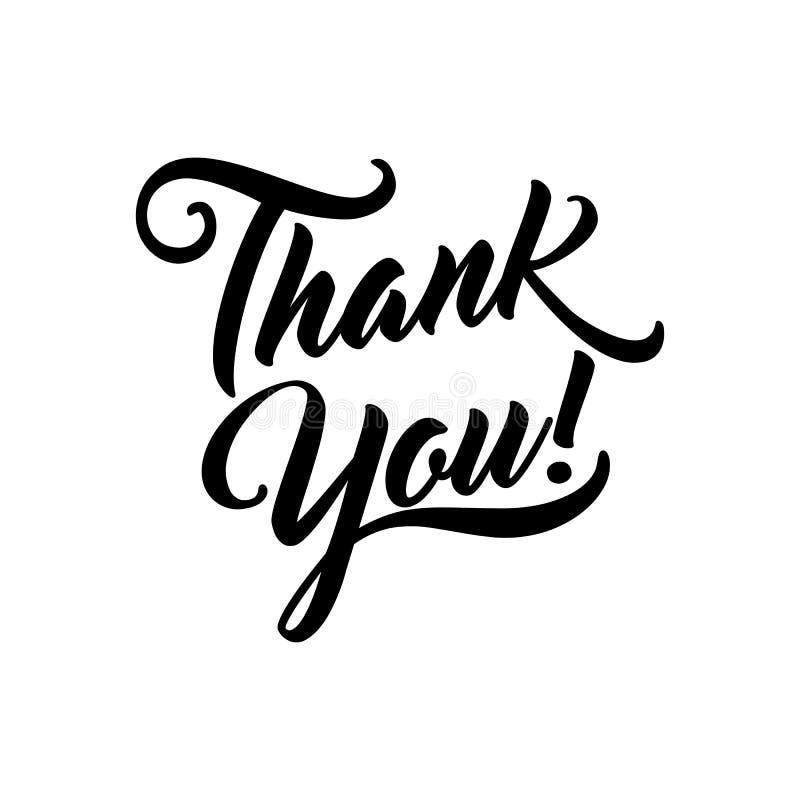 Dank u mooie van letters voorziende tekst vectorillustratie Dank u vector illustratie
