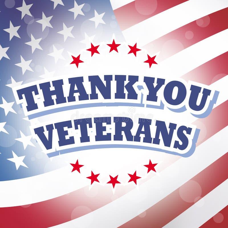 Dank u veteranen vector illustratie