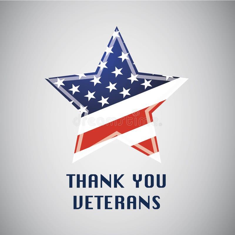 Dank u veteranen Independensdag Vrijheid in de V.S. vector illustratie
