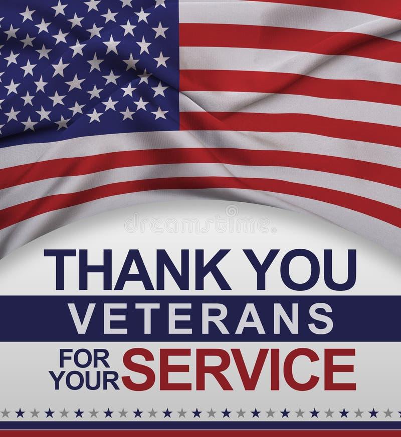 Dank u Veteranen voor uw Dienst stock illustratie