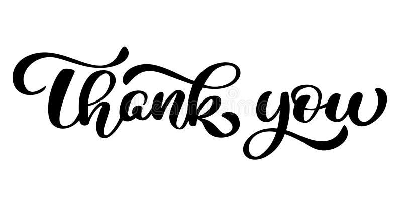 Danke handgeschriebene Aufschrift Hand gezeichnete Beschriftung Danke Kalligraphie Danke zu kardieren Auch im corel abgehobenen B stock abbildung