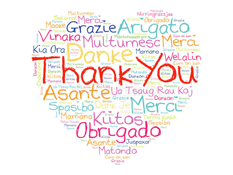Saying thank you in another language