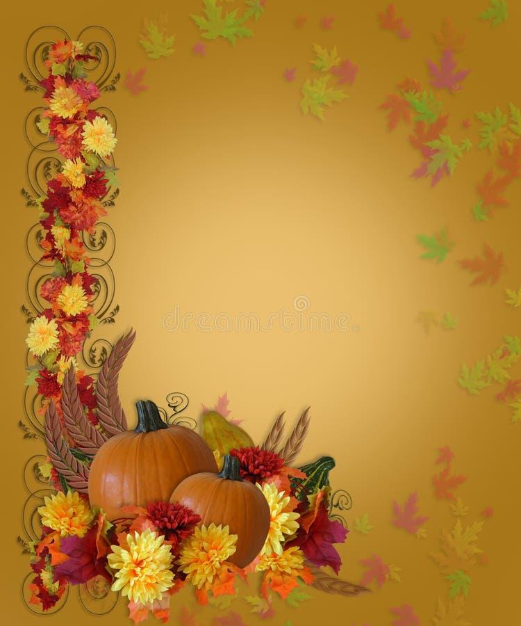 Danksagungs-Fall-Herbst-Rand vektor abbildung