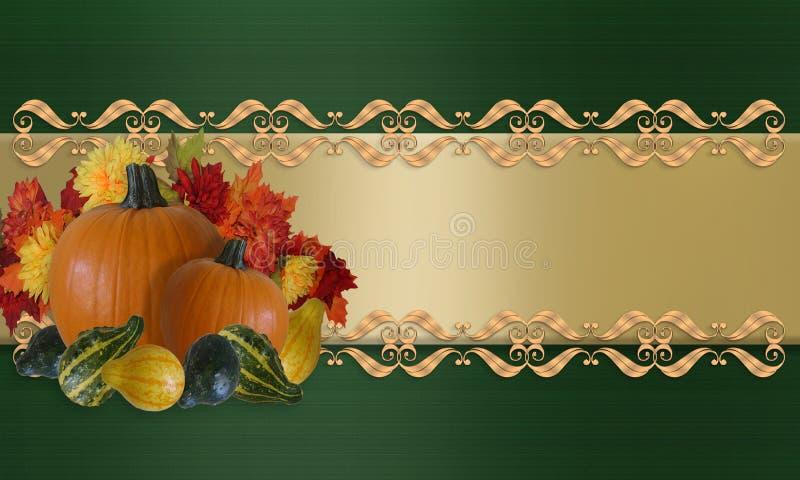 Danksagungs-Herbst-Fall-Rand lizenzfreie abbildung