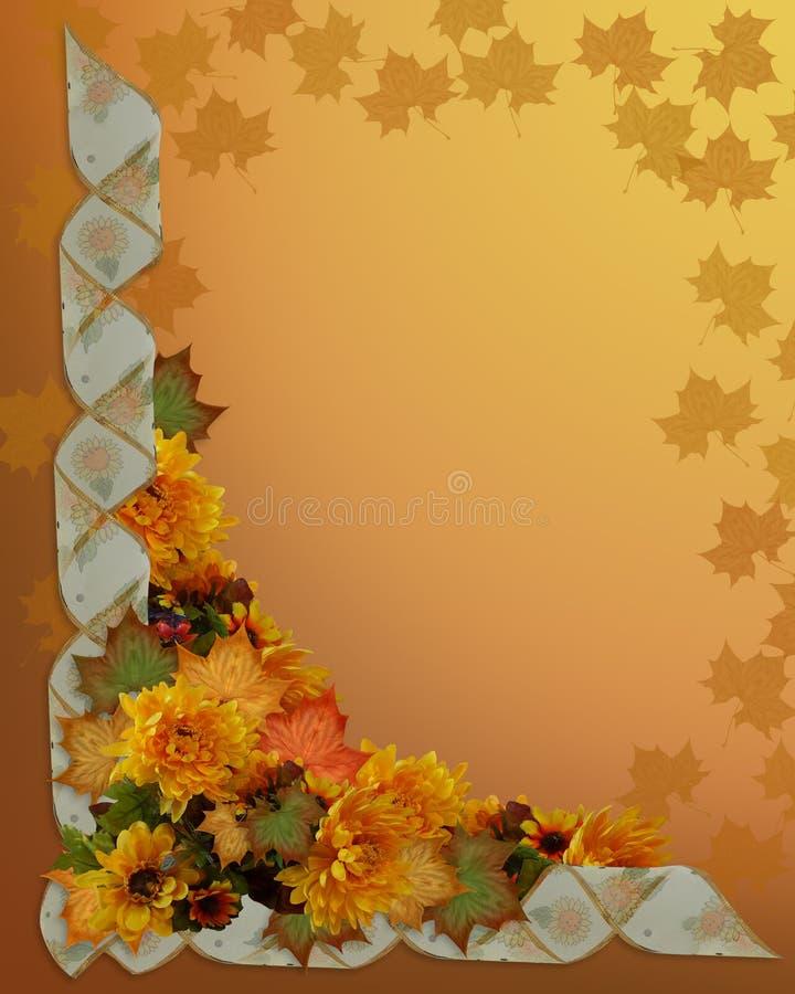 Danksagungs-Herbst-Fall-Rand vektor abbildung