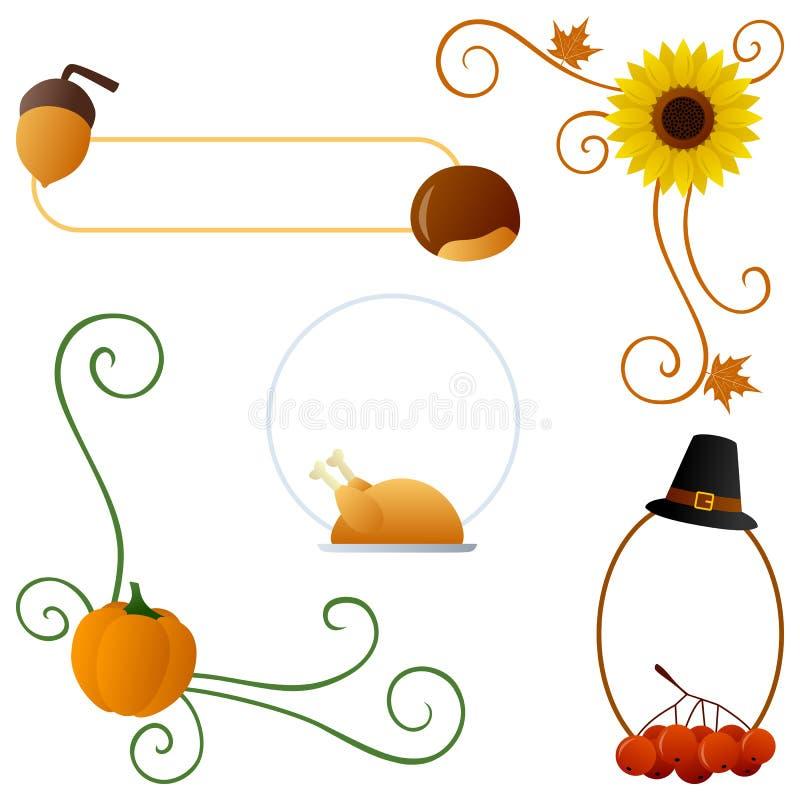 Danksagungs-oder Herbst-Ränder stock abbildung