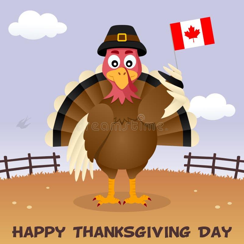 Danksagungs-Tag die Türkei mit Kanada-Flagge stock abbildung