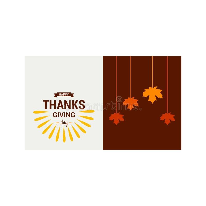 Danksagungs-Tagesplakat glückliches neues Jahr 2007 Brown und Grau auf Weiß vektor abbildung