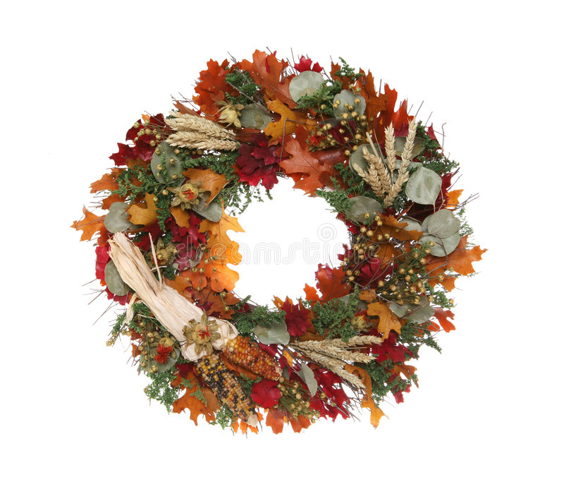 DanksagungWreath stockfoto