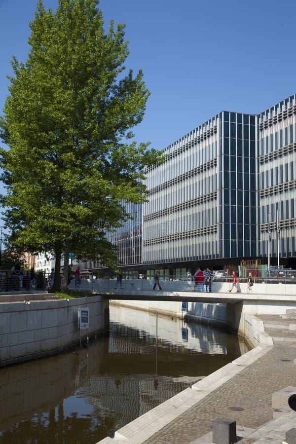 Danmark Arhus stad arkivbilder