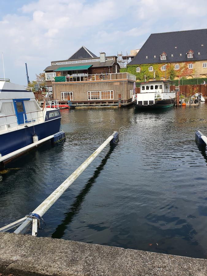 Danmark. Boat, sky, life, happt, happy, love royalty free stock images