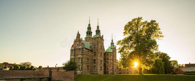 Danmark. Castle, sun, copenhagen, tree, beautiful royalty free stock photography