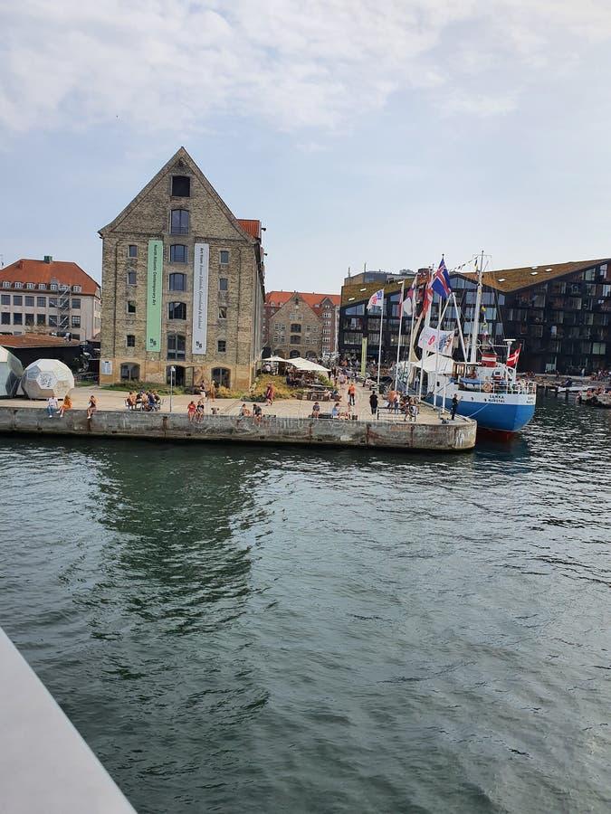 Danmark. Boat, blue, sky, life royalty free stock photography