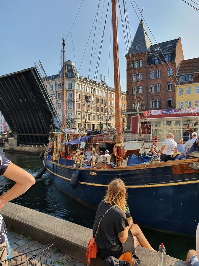 Danmark. Happy, live, nyhamn, love royalty free stock photo