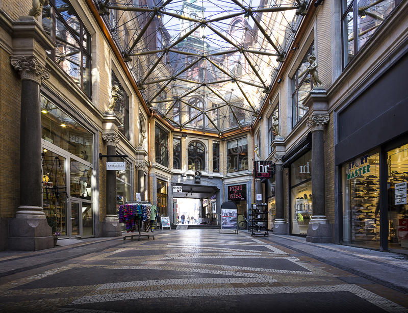 Danmark för Jorcks passageKöpenhamn centrum royaltyfri bild