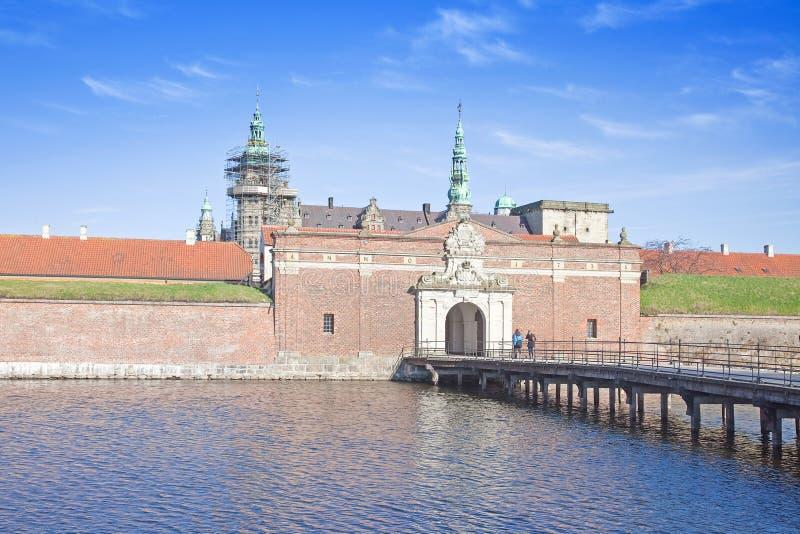Danmark. Hamlet slott. Kronborg royaltyfri fotografi