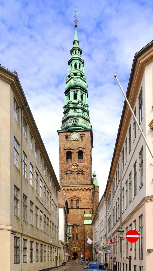 Danmark - Själland region - Köpenhamn - LutheranSt Nicholas Ch royaltyfri foto