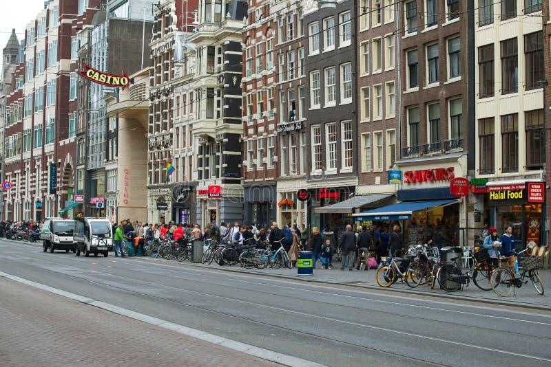 On Danmark Street. Amsterdam. AMSTERDAM, NETHERLANDS - SEPTEMBER 30, 2017: On Danmark Street stock photo